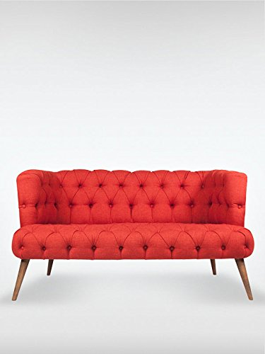2 sitzer vintage sofa couch garnitur palo alto rot 140 cm x 76 cm x 75 cm skandinavische m bel. Black Bedroom Furniture Sets. Home Design Ideas