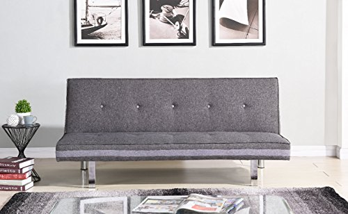 3 sitzer sofa klappbar schlafsofa couch lougue grau. Black Bedroom Furniture Sets. Home Design Ideas
