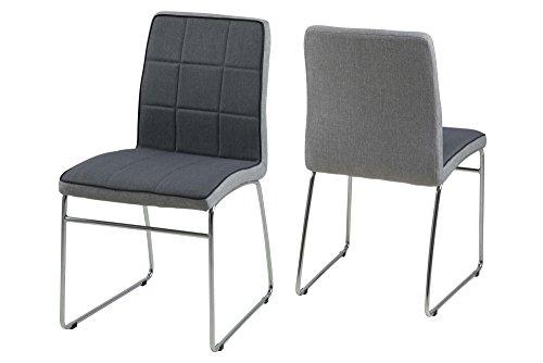 Ac design furniture 62974 stuhl ryan 4 er set dunkelgrau for Ac design stuhl nora