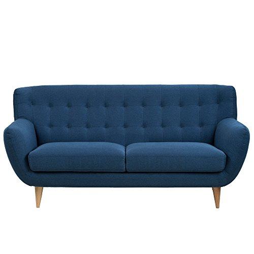 ac design furniture sofa 3 sitzer aus stoff mit gesteppter rckenlehne und holzbeinen saxon 0. Black Bedroom Furniture Sets. Home Design Ideas