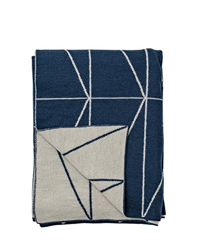 Bloomingville Decke Knitted Throw, Zig Zag