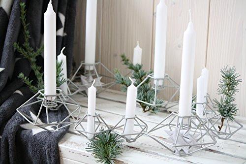bloomingville kerzenhalter kerzenst nder kranz pernille grau skandinavische m bel. Black Bedroom Furniture Sets. Home Design Ideas