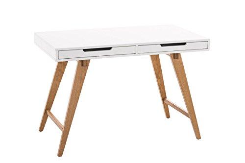 CLP Schreibtisch / Bürotisch PORTO V2, Computertisch MDF & Eichen-Holz, Schubladen & große Arbeitsfläche