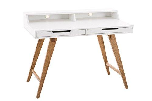 CLP Schreibtisch EATON aus MDF & Eichenholz, 2 Schubladen, große Arbeitsfläche