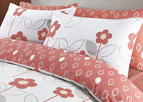 coton modus scandi floral coral bedruckt poly cotton quilt bettbezug bettwsche set mit passenden. Black Bedroom Furniture Sets. Home Design Ideas