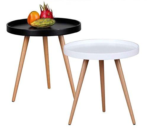 Design couchtisch skandi 50 cm x 50 cm form rund for Wohnzimmertisch 50 cm