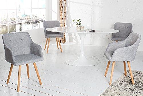 Design stuhl grau scandinavia meisterstck buche gestell for Design stuhl grau