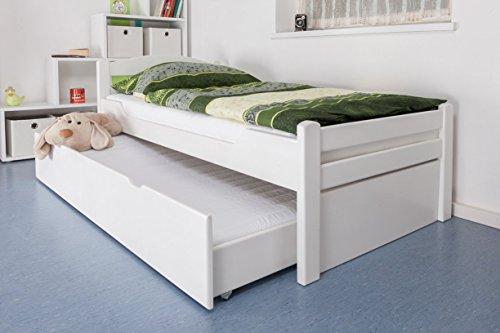 einzelbett ausziehbett easy m bel k1 2h inkl 2 liegeplatz und 2 abdeckblenden 90 x 200 cm. Black Bedroom Furniture Sets. Home Design Ideas