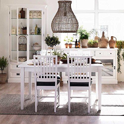 esstischgruppe in wei grau skandinavisch 5 teilig. Black Bedroom Furniture Sets. Home Design Ideas
