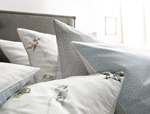 fleuresse mako satin bettw sche scandi birds bleu 155x220 cm blau skandinavische m bel. Black Bedroom Furniture Sets. Home Design Ideas