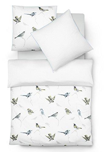 fleuresse mako satin bettw sche scandi birds bleu 155 220 cm blau skandinavische m bel. Black Bedroom Furniture Sets. Home Design Ideas