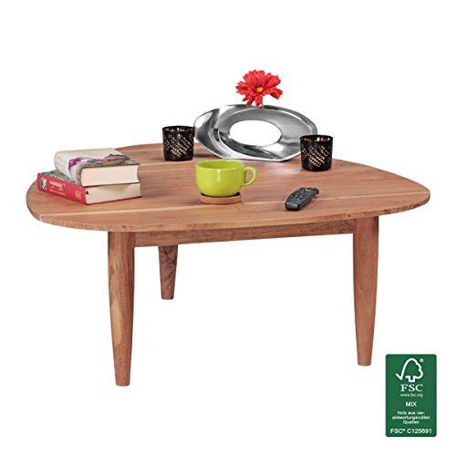 Finebuy couchtisch aus massivholz akazie nierentisch for Lounge tisch design