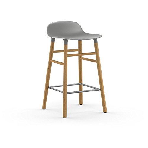 Form Barstool 65 cm Oak Grey H: 77 x L: 43 x D: 42,5 x SH: 65 cm