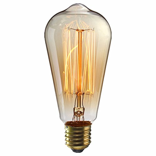 kingso e27 40w edison lampe st64 vintage stil gl hbirne squirrel cage retro lampe antike. Black Bedroom Furniture Sets. Home Design Ideas