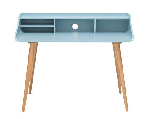 Living Moments 2130800701 Retro Schreibtisch, 94 x 120 x 62 cm, blau