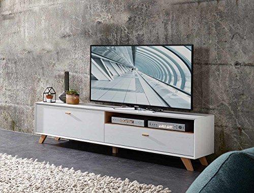 lowboard tv lowboard fermsehtisch kommode sideboard schrank eiche navarra pinie wei. Black Bedroom Furniture Sets. Home Design Ideas