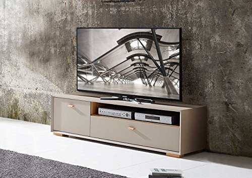 lowboard tv lowboard fermsehtisch kommode sideboard schrank eiche navarra steingrau modern retro. Black Bedroom Furniture Sets. Home Design Ideas