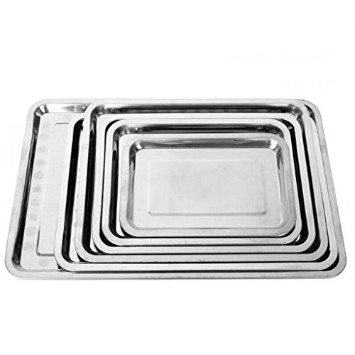 lozse edelstahl schale rechteckig fach grill gerichte. Black Bedroom Furniture Sets. Home Design Ideas