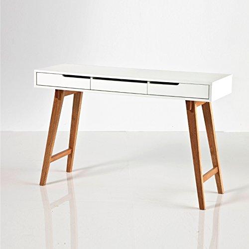 Robas Lund, Tisch, Schminktisch, Anneke L, MDF/Weiß, 58 x 140 x 75 cm, 40134W04