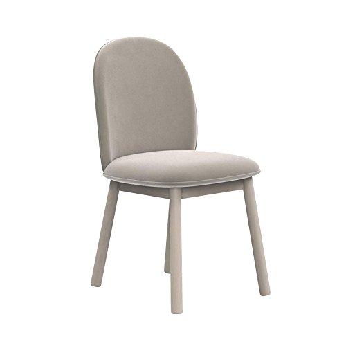 normann copenhagen ace stuhl velour beige gestell buche gebeizt h x b x t 80 x 46 x 50cm. Black Bedroom Furniture Sets. Home Design Ideas
