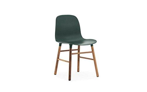 Normann copenhagen form stuhl mit holzgestell gr n for Design stuhl form