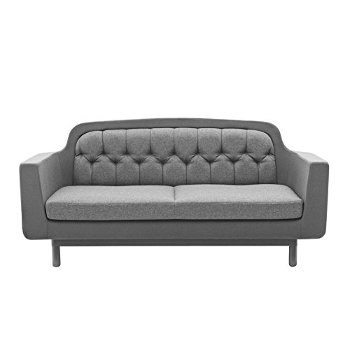 normann copenhagen onkel sofa 2 sitzer hellgrau rckenlehne stoff fame 60075 sitz rcken polster. Black Bedroom Furniture Sets. Home Design Ideas