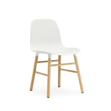 Normann Form Stuhl Gestell Eiche, weiß Gestell Eiche natur