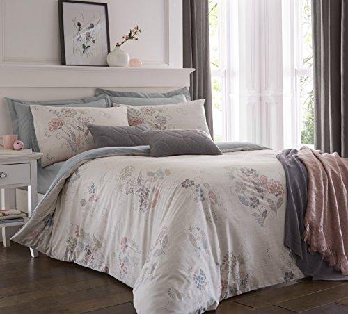 olanda blush floral baumwolle mischung bettbezug set mit passenden kissenbez gen polycotton. Black Bedroom Furniture Sets. Home Design Ideas