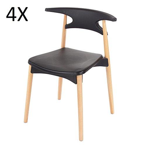 p n homewares basilio retro stuhl inspiriert kunststoff esszimmer b ro meeting stuhl in wei. Black Bedroom Furniture Sets. Home Design Ideas