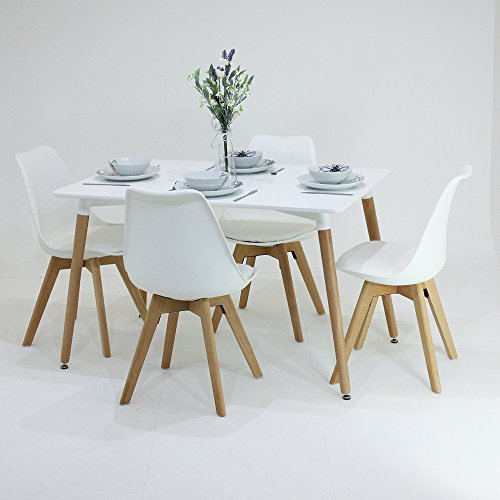 P n homewares lorenzo esstisch und 4 st hle set retro for Table scandinave 6 personnes