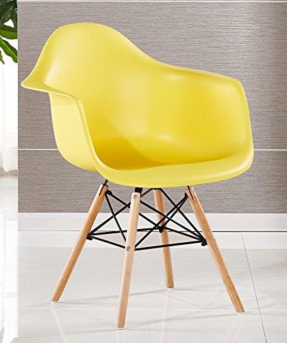 P & N Homewares® Moda Wanne Stuhl Kunststoff Retro Esszimmer Stühle weiß schwarz grau rot gelb ...