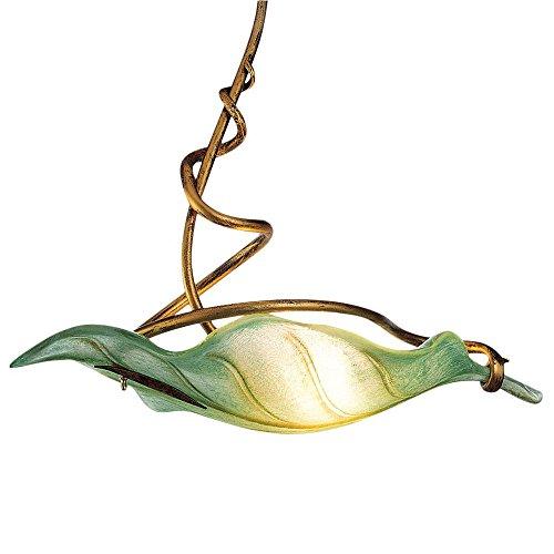 pendelleuchte metall glas antik gold gr n 1 flammig skandinavische m bel. Black Bedroom Furniture Sets. Home Design Ideas
