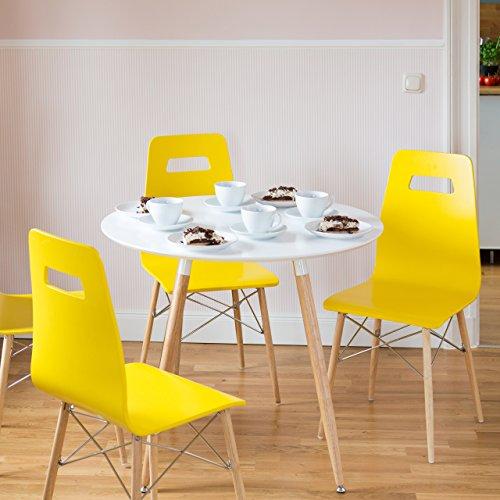 relaxdays runder esstisch arvid holz hxd 74 x 90 cm. Black Bedroom Furniture Sets. Home Design Ideas