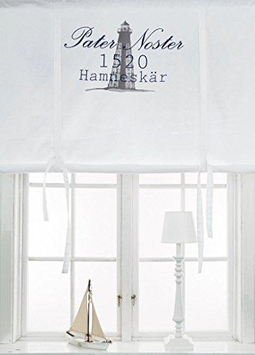scheibengardine raff gardine raffrollo vorhang 39 pater noster 39 140 x 120 cm bxh wei mit. Black Bedroom Furniture Sets. Home Design Ideas