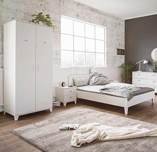 schlafzimmer set schlafzimmerm bel kleiderschrank bett futonbett nachtschrank liegefl che. Black Bedroom Furniture Sets. Home Design Ideas
