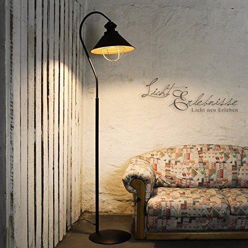 stehleuchte loft metall in braun innen kupfer mit e27. Black Bedroom Furniture Sets. Home Design Ideas