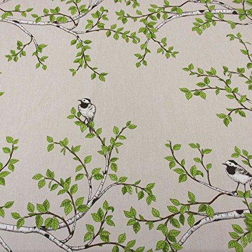 stoff baumwollstoff bachstelze birke vogel schweden skandinavisch landhaus skandinavische m bel. Black Bedroom Furniture Sets. Home Design Ideas