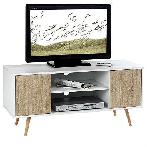 tv lowboard tv rack hifi m bel fernsehtisch beistelltisch wohnzimmertisch murica 2 f cher 2. Black Bedroom Furniture Sets. Home Design Ideas