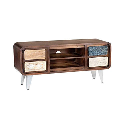 tv lowboard im retro design braun bunt pharao24 skandinavische m bel. Black Bedroom Furniture Sets. Home Design Ideas