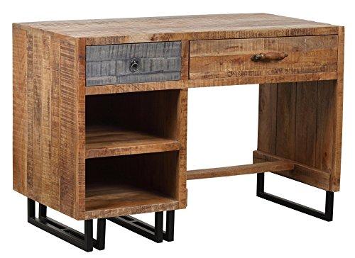 The Wood Times Schreibtisch Vintage Massiv New Rustic Mangoholz, FSC Zertifiziert, BxHxT 118x80x60 cm