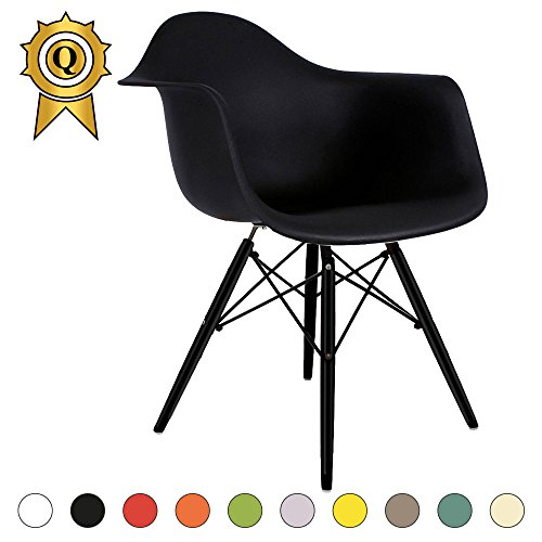 verkauf 1 x design stuhl eiffel stil schwarz holz beine und sitz farbe schwarz mobistyl dawb. Black Bedroom Furniture Sets. Home Design Ideas