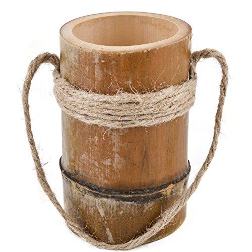 vase asia design rund bambus natur blumen pflanzen gef skandinavische m bel. Black Bedroom Furniture Sets. Home Design Ideas
