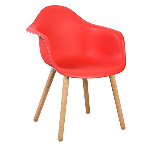 woltu 4er set esszimmersthle kchenstuhl design stuhl esszimmerstuhl mit lehne kunststoff holz. Black Bedroom Furniture Sets. Home Design Ideas