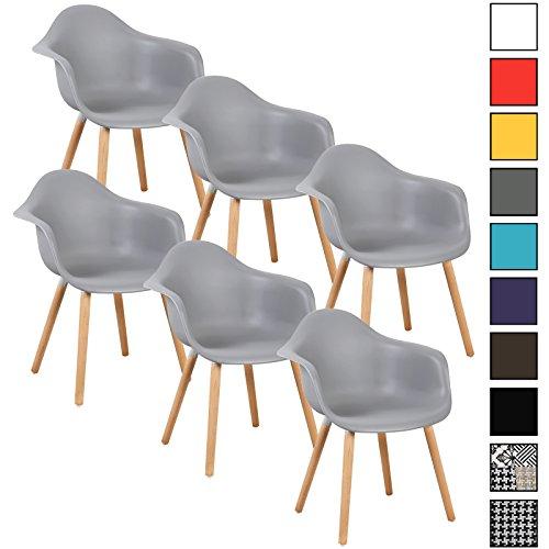 Woltu 6er set esszimmerst hle k chenstuhl design stuhl for Design stuhl kunststoff