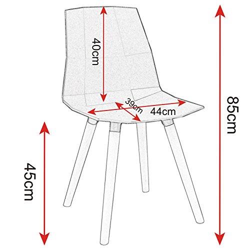 Woltu bh63gr 6 6 x esszimmerst hle 6er set esszimmerst hle design stuhl k chenstuhl mit - Esszimmerstuehle design ...