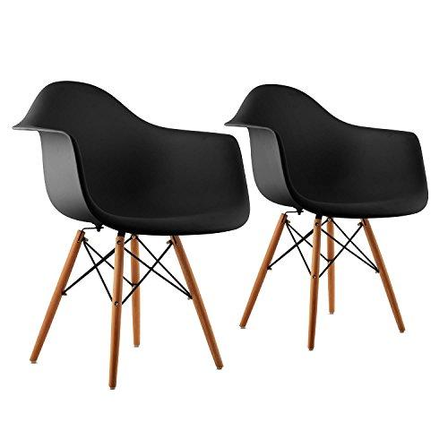 Oneconcept bellagio schalenstuhl wei oder schwarz for Schalenstuhl schwarz