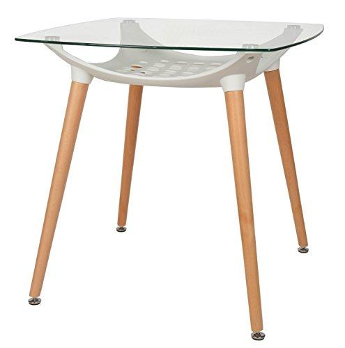 ts ideen design glastisch beistelltisch 8 mm esg glas esstisch holz buche mit kunststoffablage. Black Bedroom Furniture Sets. Home Design Ideas