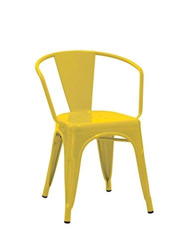 1x esszimmerstuhl stuhl in gelb aus metall eisen for Esszimmerstuhl stapelbar