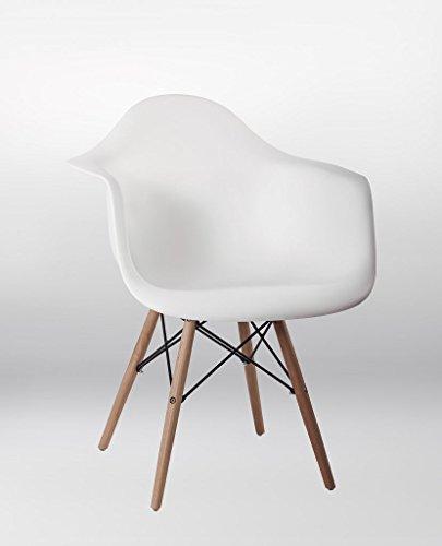 4er set stuhl esszimmerst hle k chenst hle in weiss k chenstuhl mit holzbeinen retro design. Black Bedroom Furniture Sets. Home Design Ideas