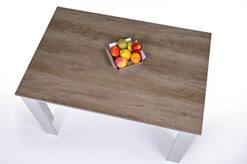 Agionda Esstisch ~ Agionda® Esstisch + Stuhlset  1 x Esstisch Toledo Sandeiche Nebraska 120 x 8